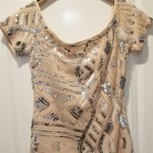 Blush Pink and Silver Sequined